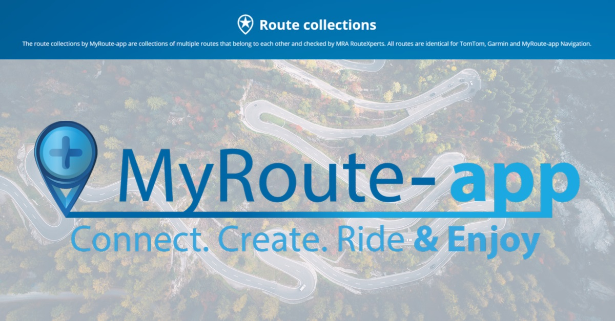 Route collections – MyRoute-app: The #1 all-in-one route tool